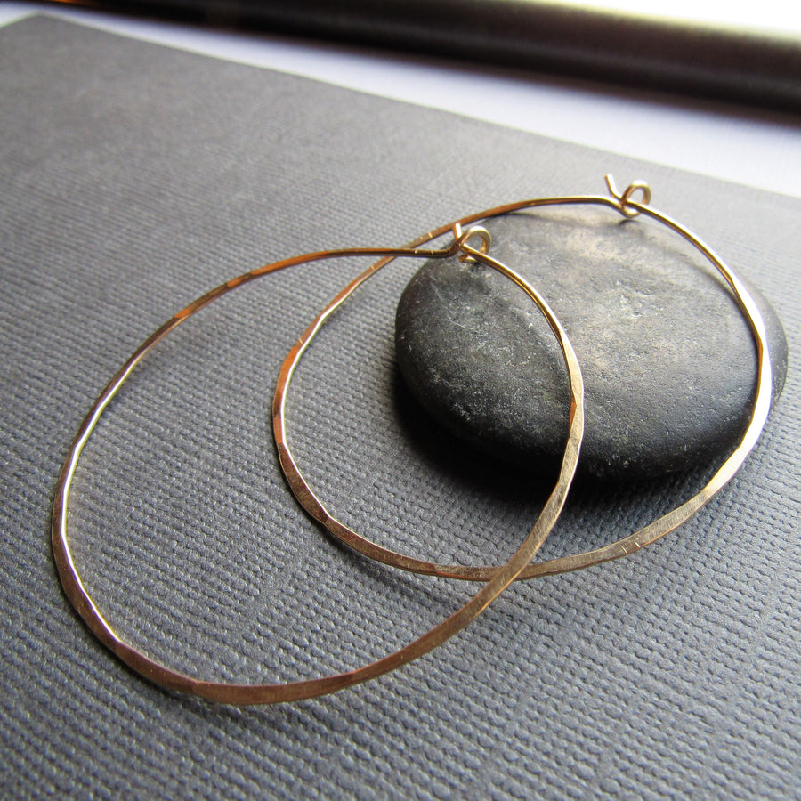 Classic Gold Hoops - Extra Large
