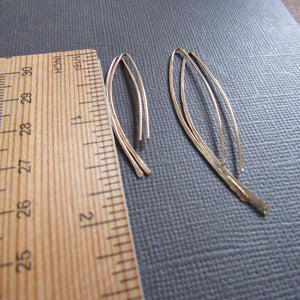 Gold Feather Earrings - Two Sizes