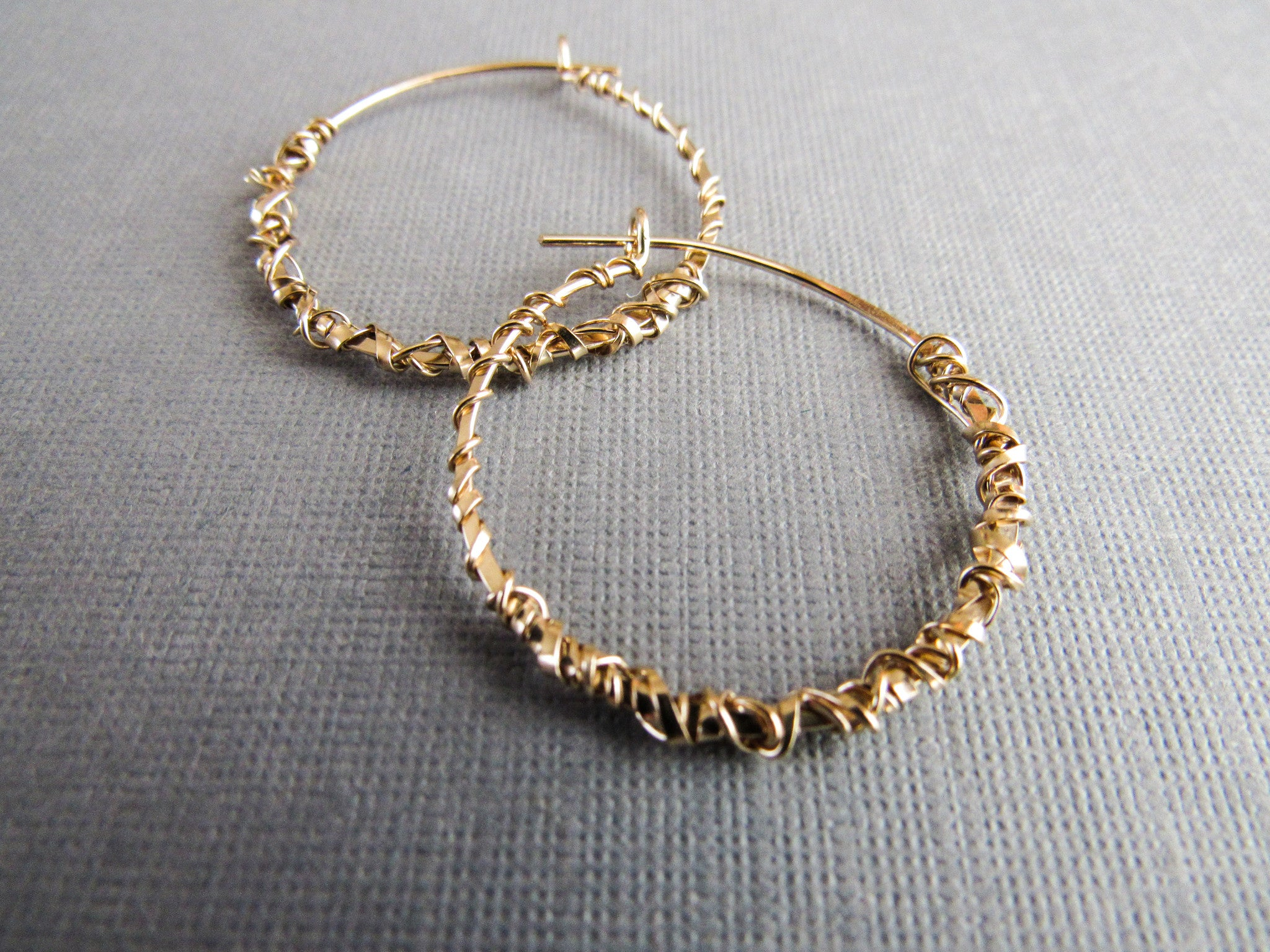 Urban Gold Wrap Hoops