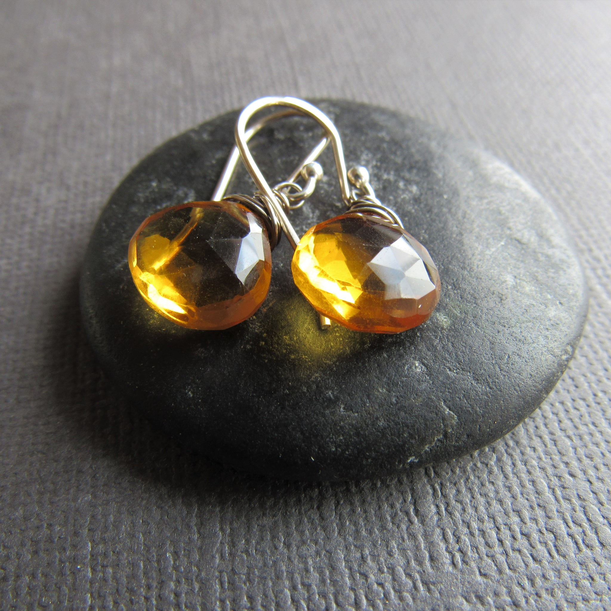 Golden Quartz Earrings