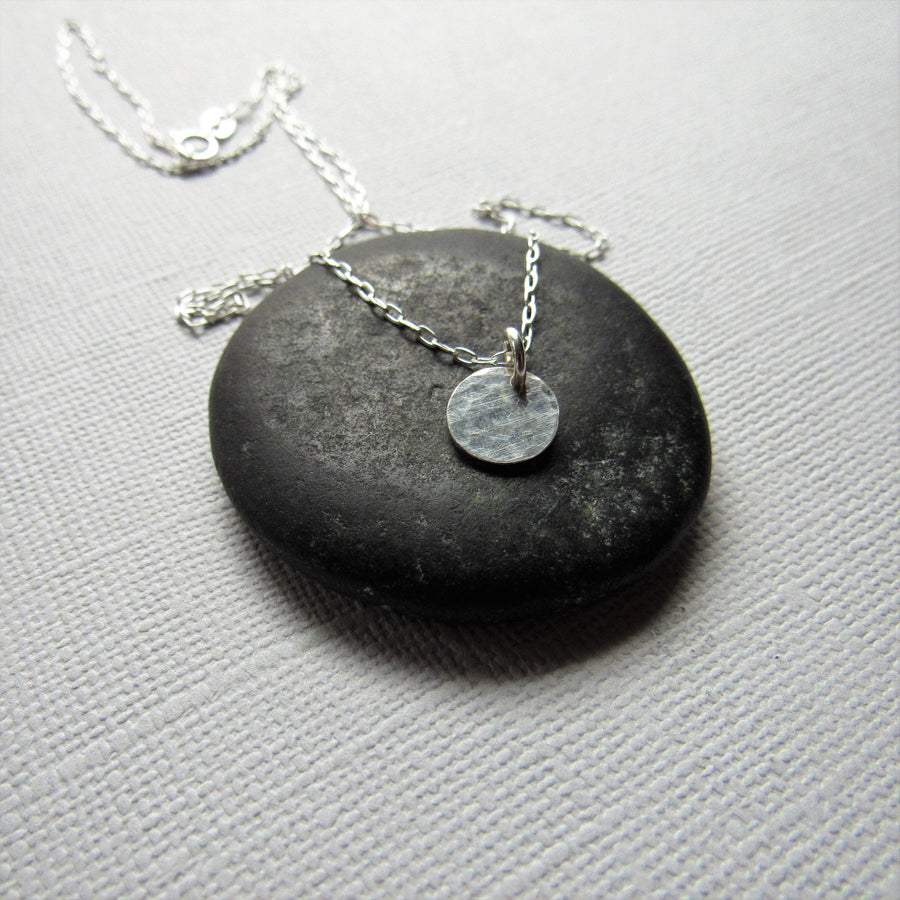 Hammered Sterling Silver Coin Necklace