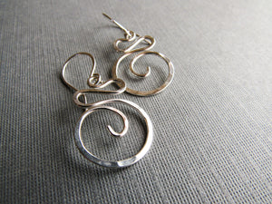 Sterling Silver Swirl Earrings by Balsamroot Jewelry