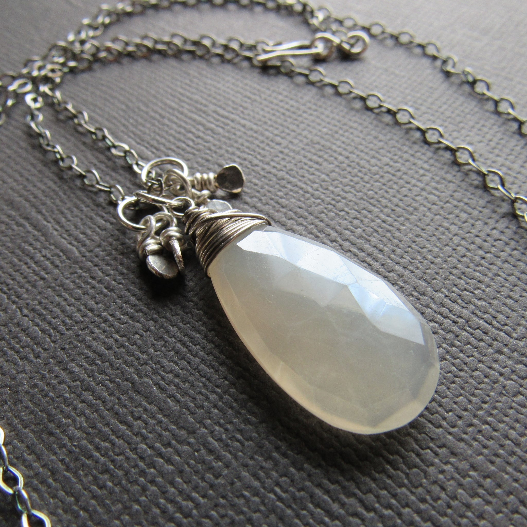 Silver Moonstone & Sterling Silver Necklace