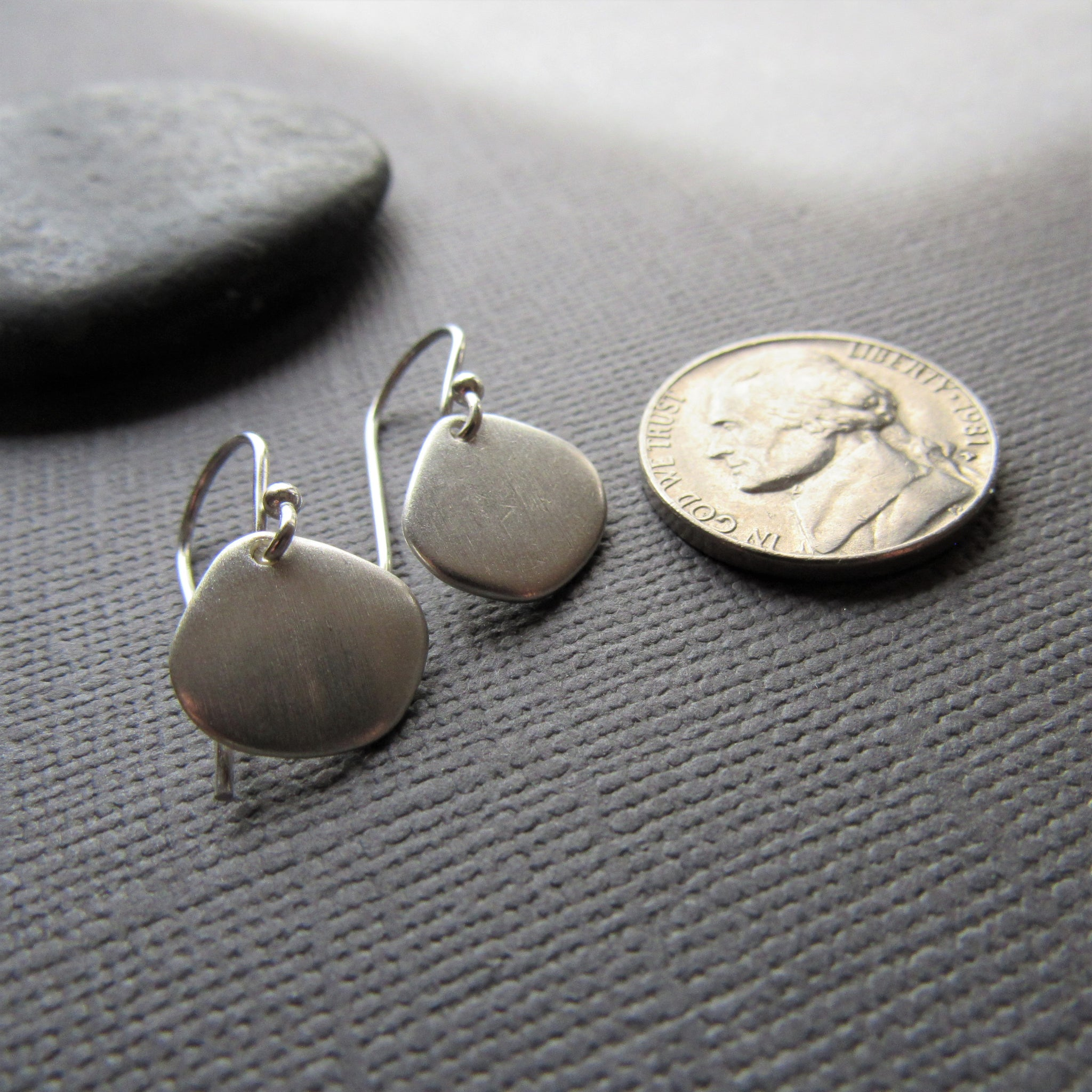 Small Silver Cloud Earrings