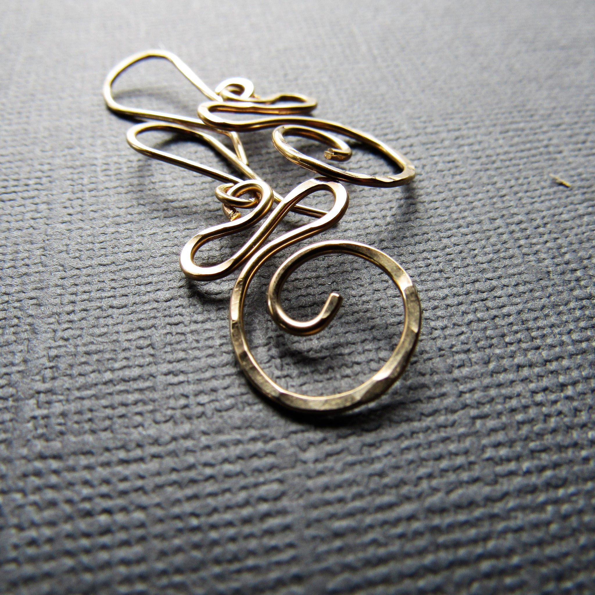 Gold Swirl Earrings