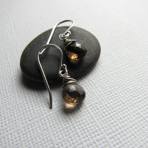 Petite Smoky Topaz Earrings