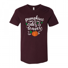 Load image into Gallery viewer, Pumpkins & Cider & Leaves Tee
