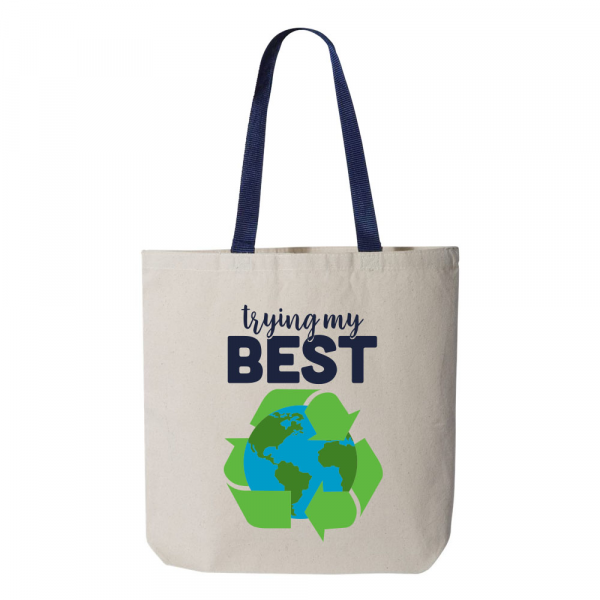 Trying My Best Earth Bag