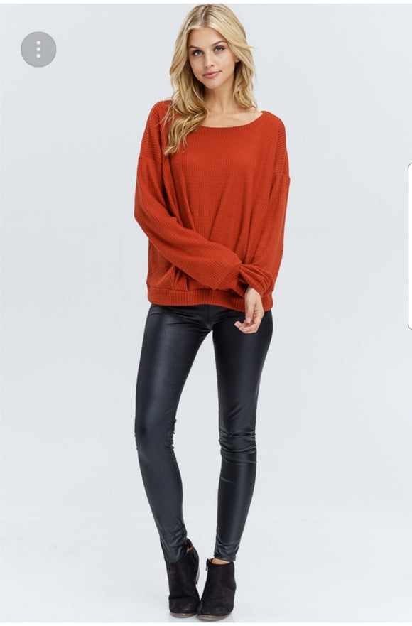 Solid Thermal Knit Sweater