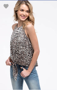 Halter Neck Leopard Print Top