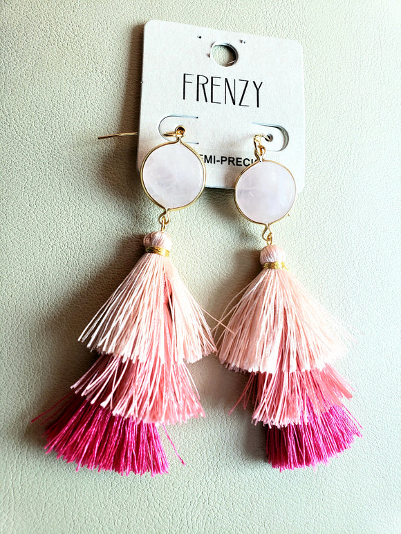 Tiered Thread Tassel Earring