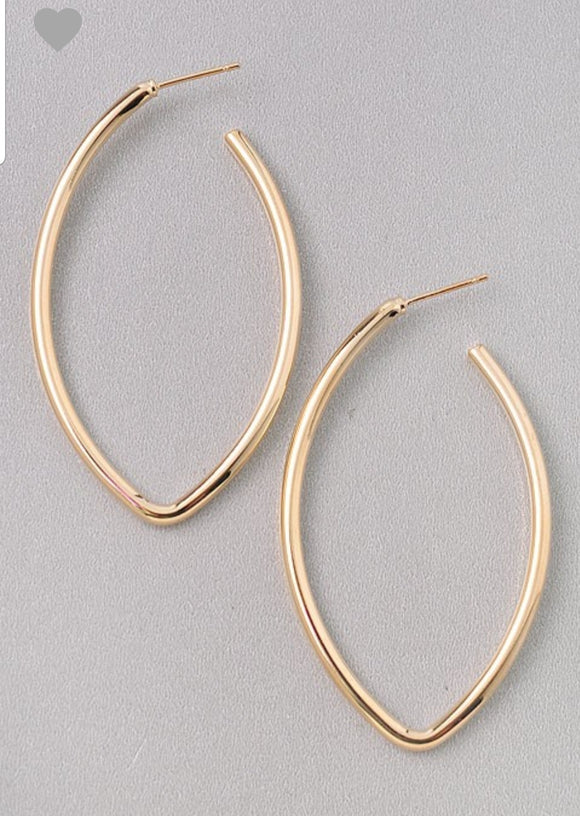 Open Oval Hoop Earrings