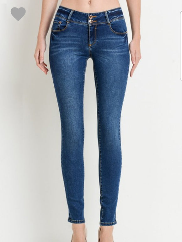 Dark Wash Push Up Jeans