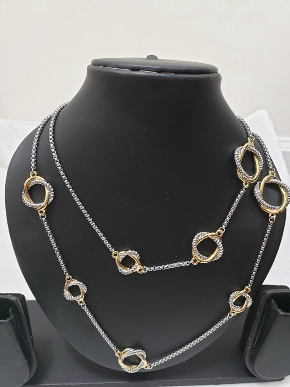 Two Tone Long Necklace