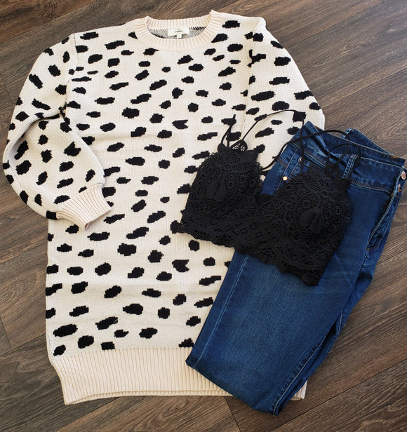 Animal Print Sweater