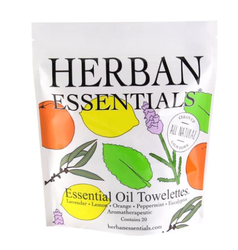 Herban Essentials Hand Wipes 20 Count