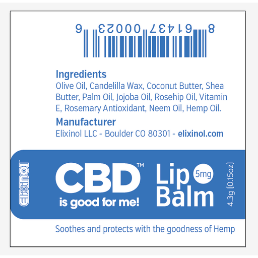 CBD Body Care | Elixinol - CBD Lip Balm (5mg CBD) | CBD Pure Beauty