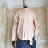 MARTINE ROSE LIGHT SALMON COTTON SHIRT