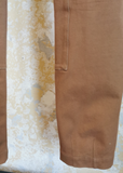 GUCCI BROWN COTTON TROUSERS
