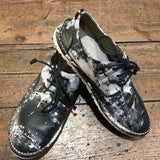 MARSELL BLACK & WHITE LEATHER PRINT LACE UP SHOES 40
