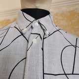 ALEXANDER MCQUEEN MCQ GREY SHIRT WITH PATTERN