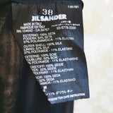 JIL SANDER SHEER LAYERED PLEATED SILK SKIRT