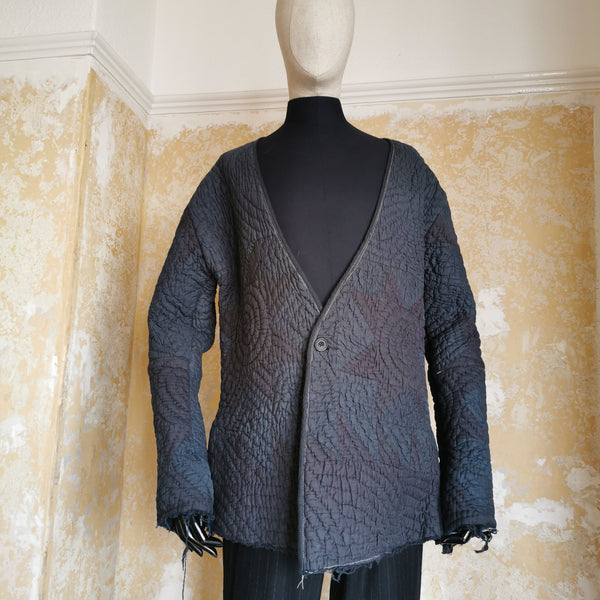 OLUBIYI THOMAS ANTIQUE DRUNKEN BLANKET COAT HANDQUILTED