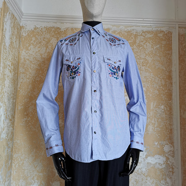 PAUL SMITH main line  EMBROIDED  WESTERN SHIRT