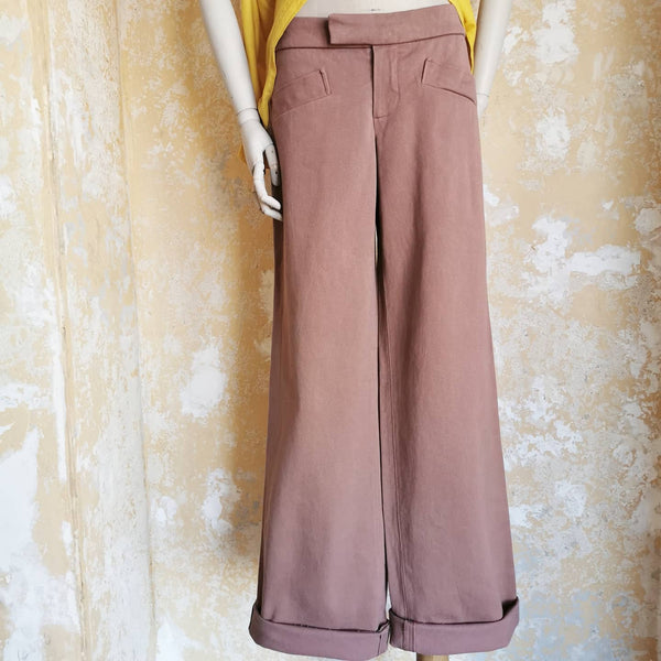 MARNI HEAVY COTTON CANVAS WIDELEG TROUSERS