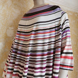 ISSEY MIYAKE HEART HAAT OVERSIZED STRIPED TOP
