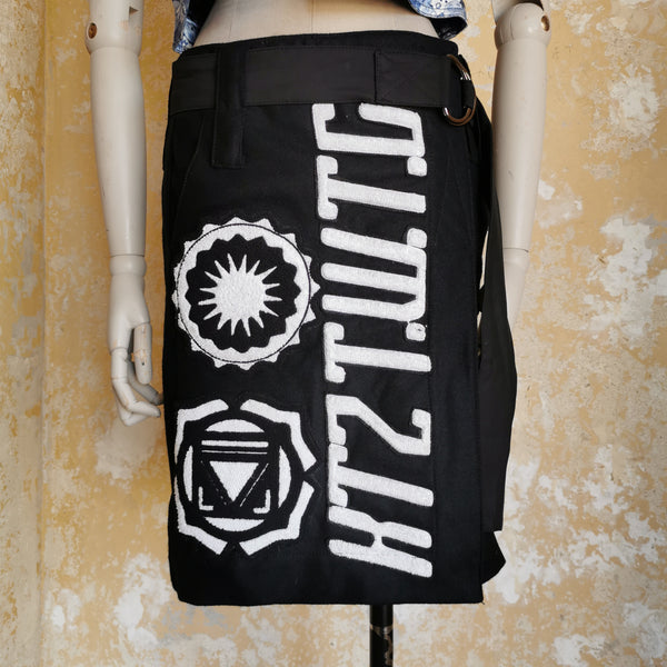 KTZ HEAVY COTTON WRAP SKIRT