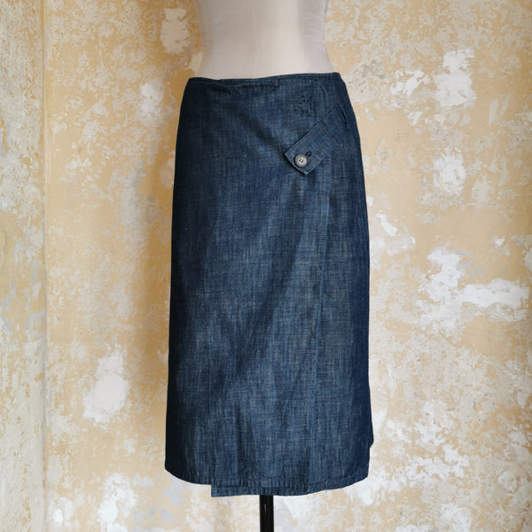 JIL SANDER LIGHT COTTON WRAP SKIRT
