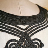 JEAN PAUL GAULTIER BLACK EMBROIDERED TOP