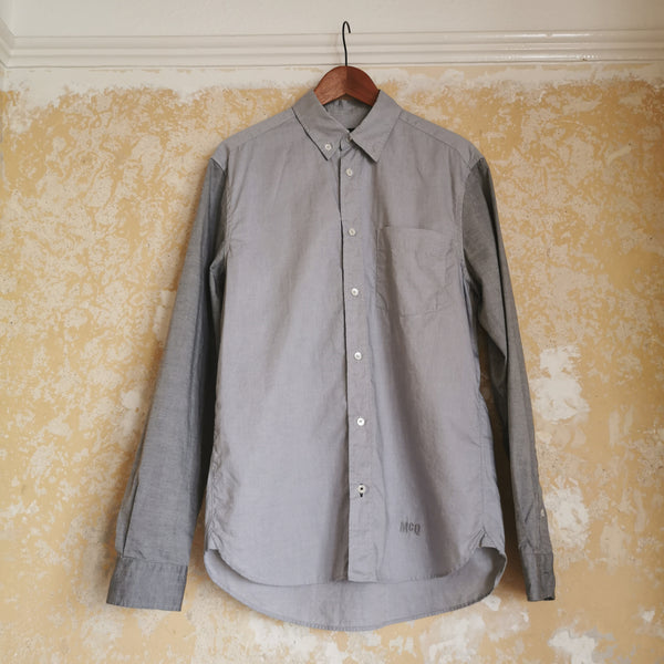 ALEXANDER MCQUEEN MCQ TWO TONE GREY SHIRT SIZE IT 48