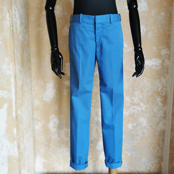 ALEXANDER MCQUEEN BLUE CHINO TROUSERS