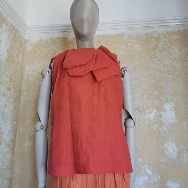 MARNI ORANGE ORGANZA TOP