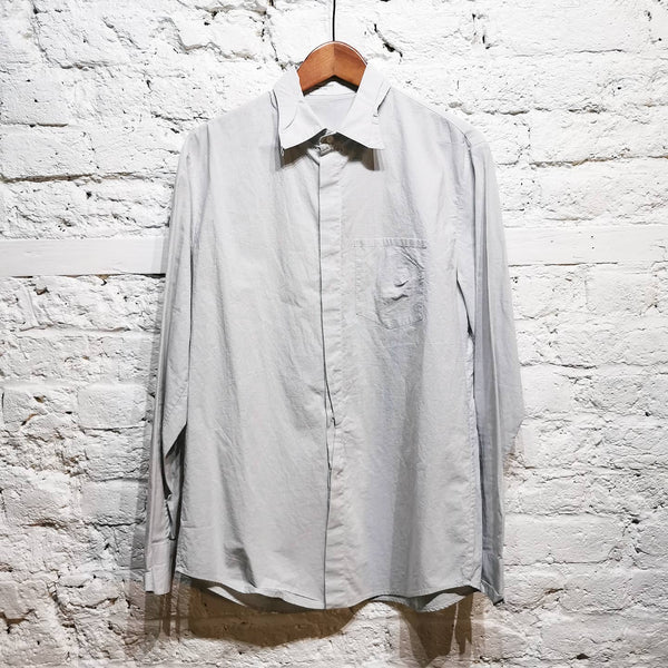 HUSSEIN CHALAYAN CRUSH COTTON PLEAT STITCH SHIRT