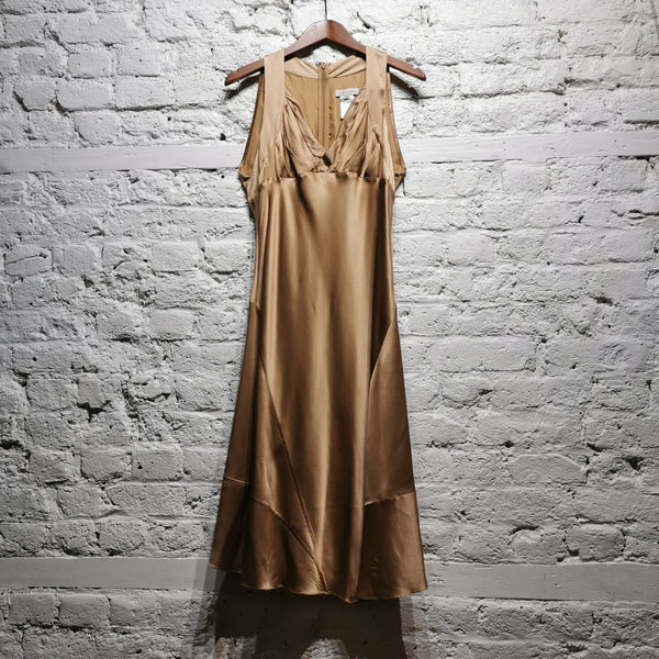 CELINE BRONZE SILK DRESS