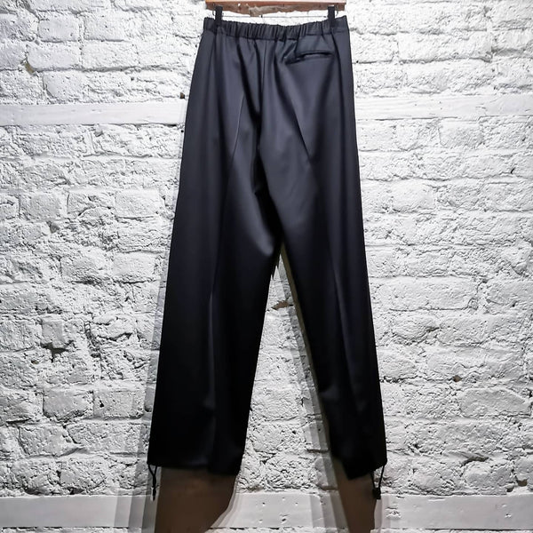 ALEXANDER MCQUEEN WIDELEG BLACK TROUSERS