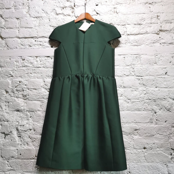 CELINE CAP SLEEVE GREEN DRESS