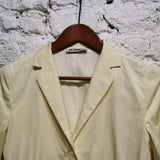 JIL SANDER  LEMON YELLOW  COTTON JACKET