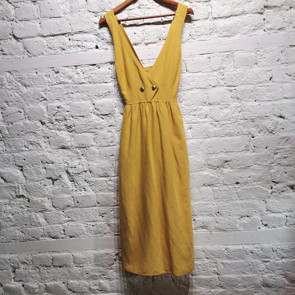 BALENCIAGA VINTAGE COTTON YELLOW DRESS