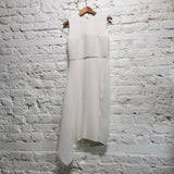ALEXANDER MCQUEEN McQ WHITE PLEATS DRESS