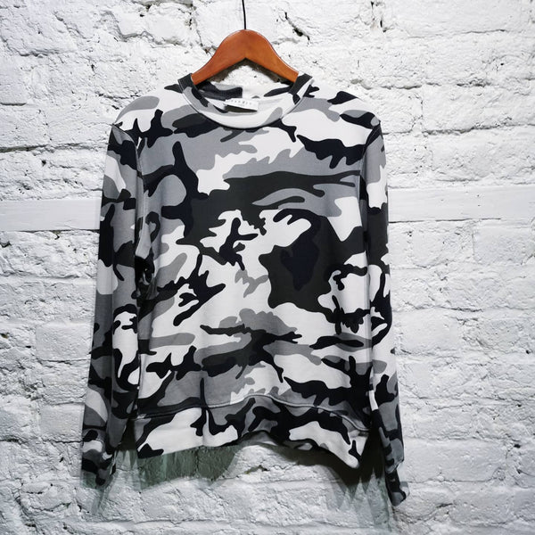 SANDRO CAMOUFLAGE PRINT SWEATER