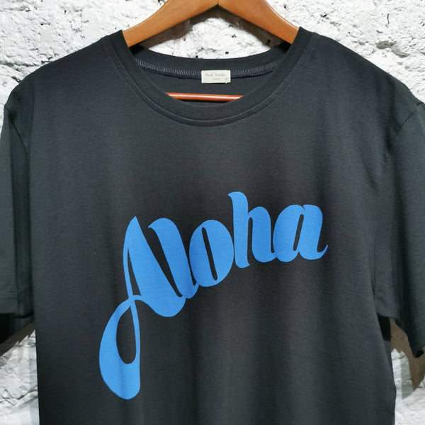 PAUL SMITH BLACK ALOHA T-SHIRT