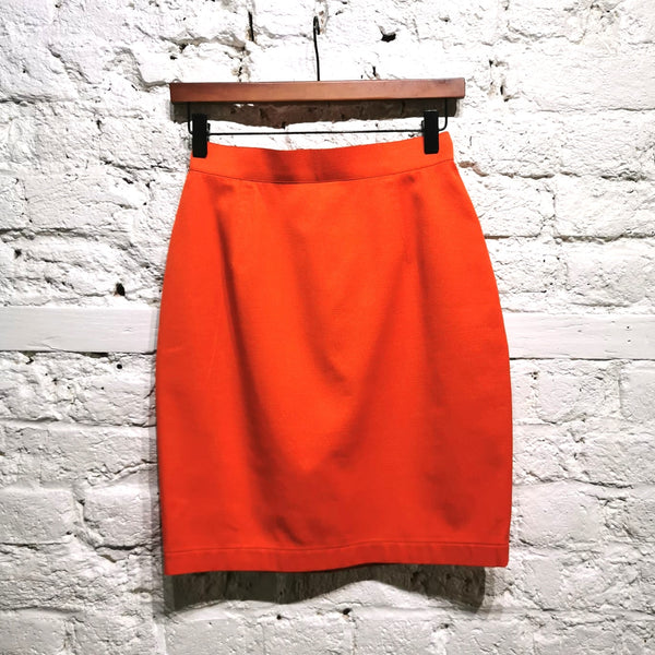 THIERRY MUGLER VINTAGE ORANGE MINI SKIRT