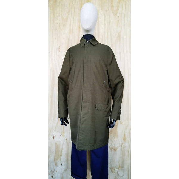 PAUL SMITH ARMY GREEN TRENCH 3/4 LENGTH