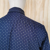 PAUL SMITH  PS  Blue Cotton MULTI PATTERN  PANEL SHIRT