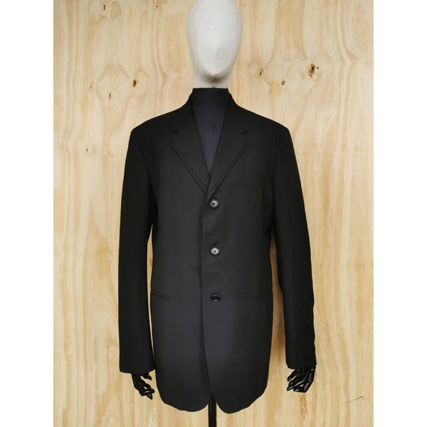 YOHJI YAMAMOTO COSTUME D'HOMME 90s Archive BLACK DOUBLE LAPEL WOOL JACKET