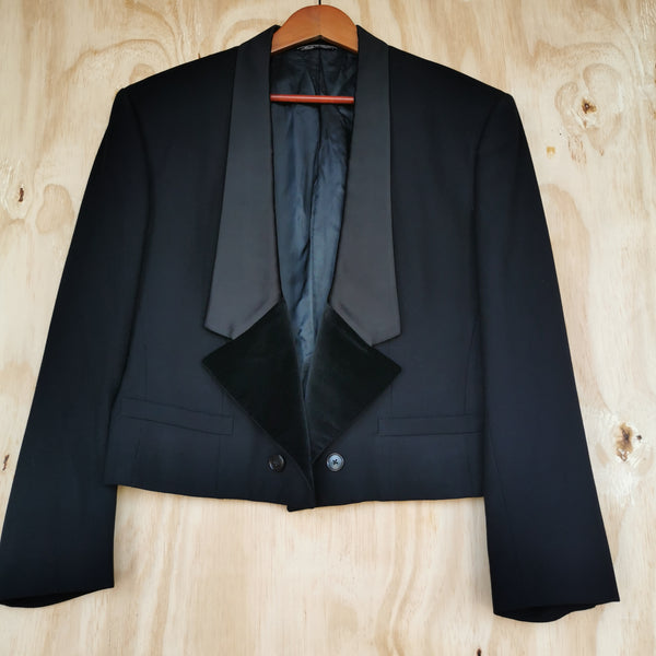 GIANNI VERSACE ARCHIVE MENS CROPPED TUXEDO Jacket Size it 48 £320 #gianniversace  #siatc10783
